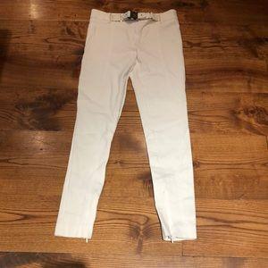 authentic GUCCI WHITE PANTS 0 IT 36